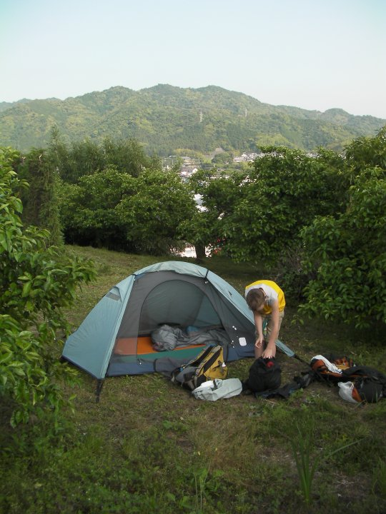 Just camp anywhere, the Japanese are too polite to tell you otherwise.