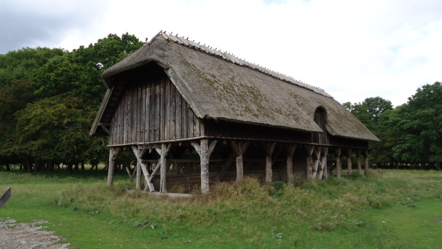 Beautiful thatched roof buildings are everywhere in Denmark.