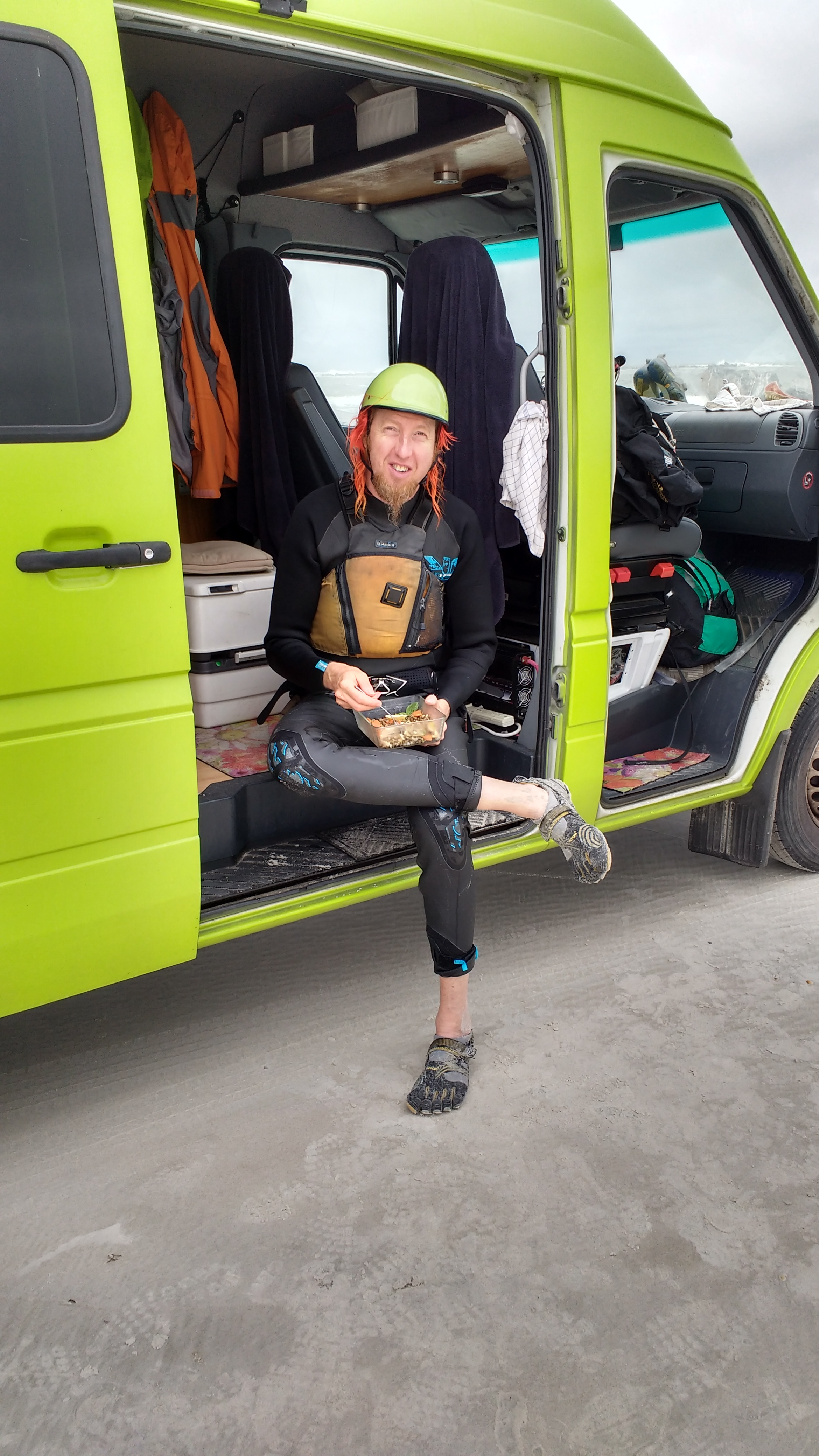 We were able to drive the sprinter for miles on the beach which made the kiting really nice.